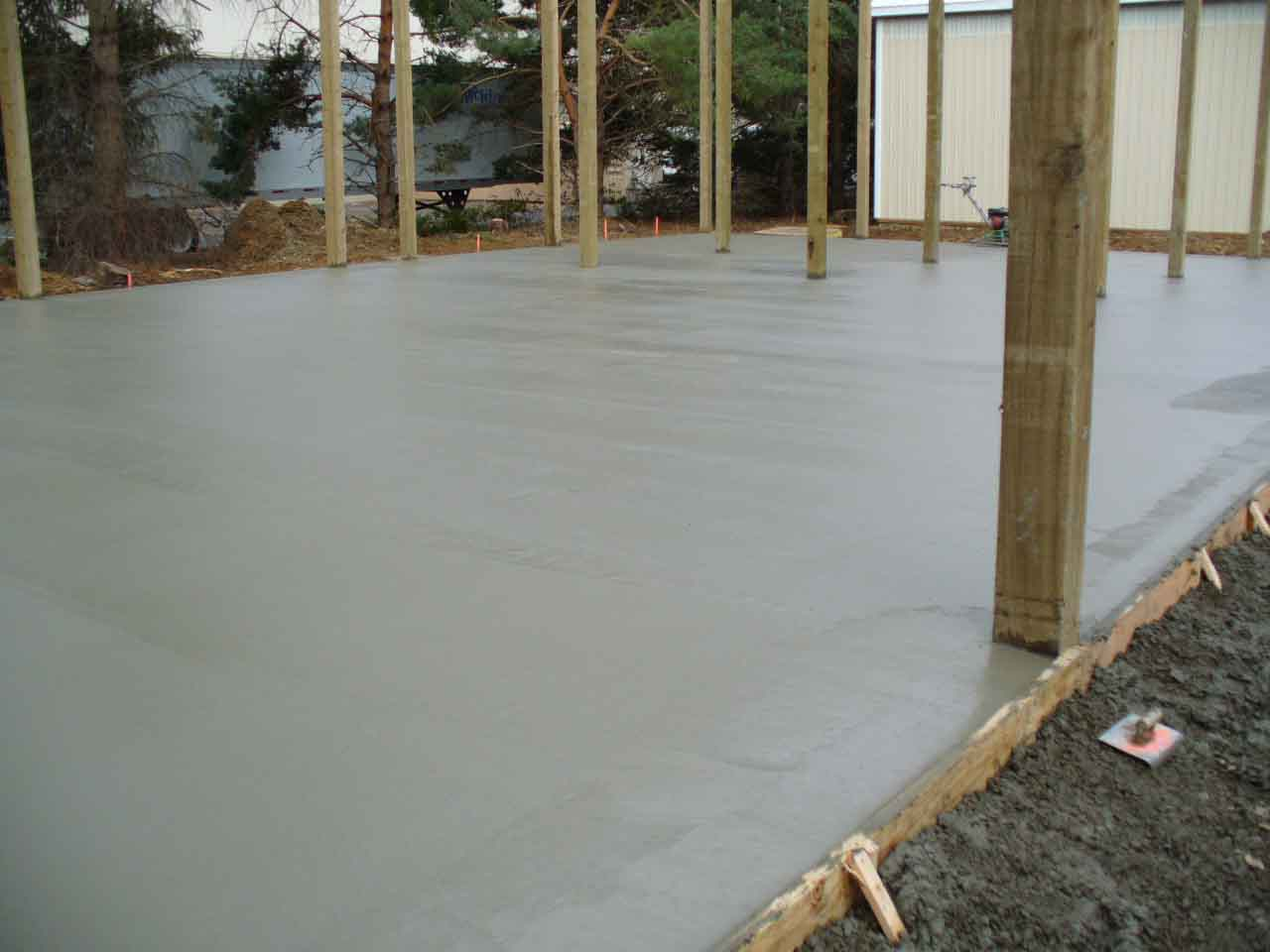 40'x70' concrete floor for shop with loft