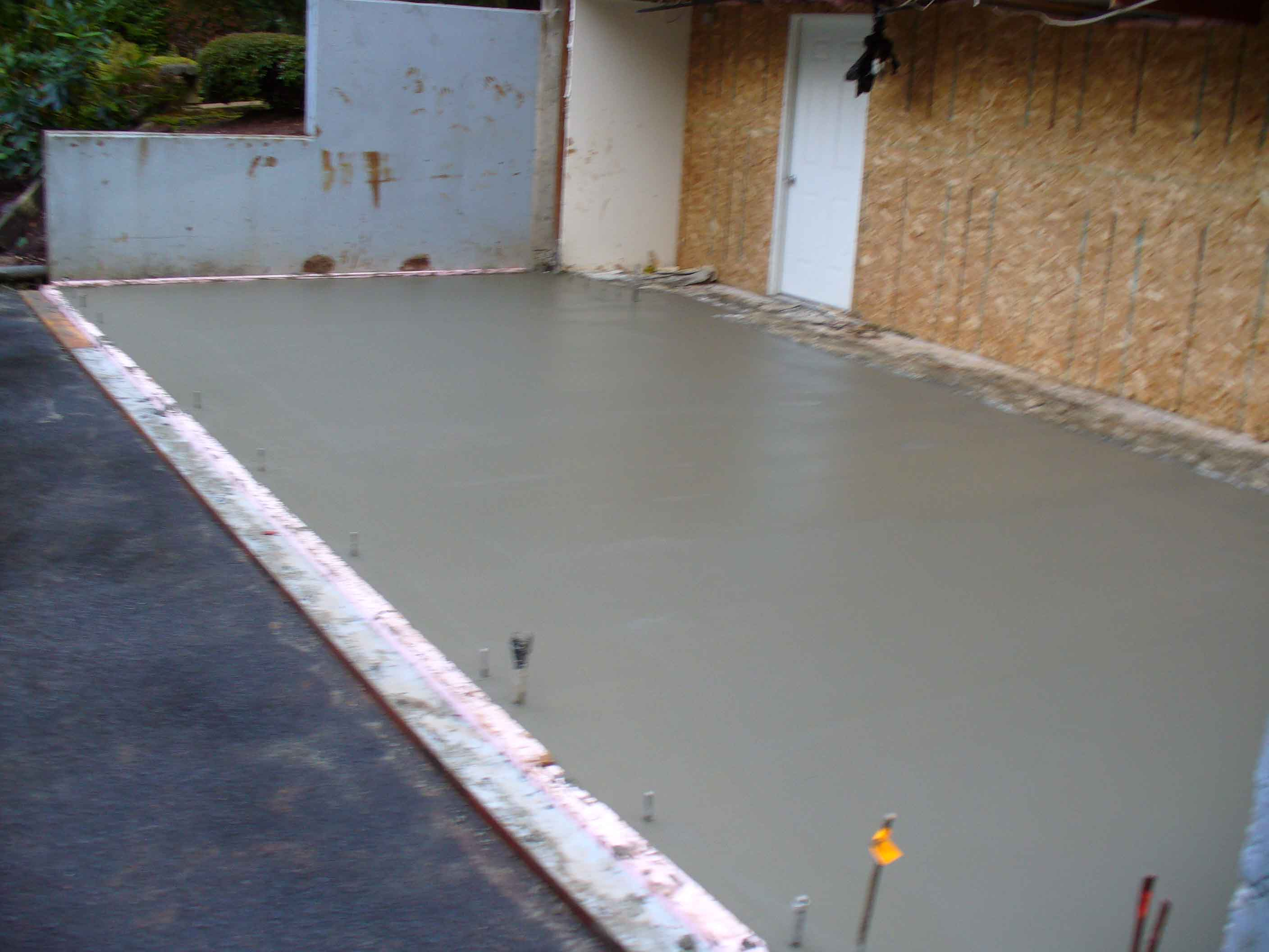 Concrete Foundation for addition