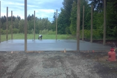 30'x48 concrete floor for horse, shop combo