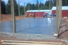 30'x60' concrete steel worker shop floor