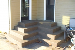 Custom concrete exposed stairs