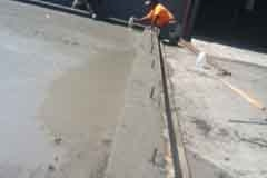 Finishing concrete for large cooler 2