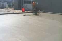 Finishing concrete for large cooler