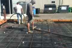 Pouring concrete for large cooler