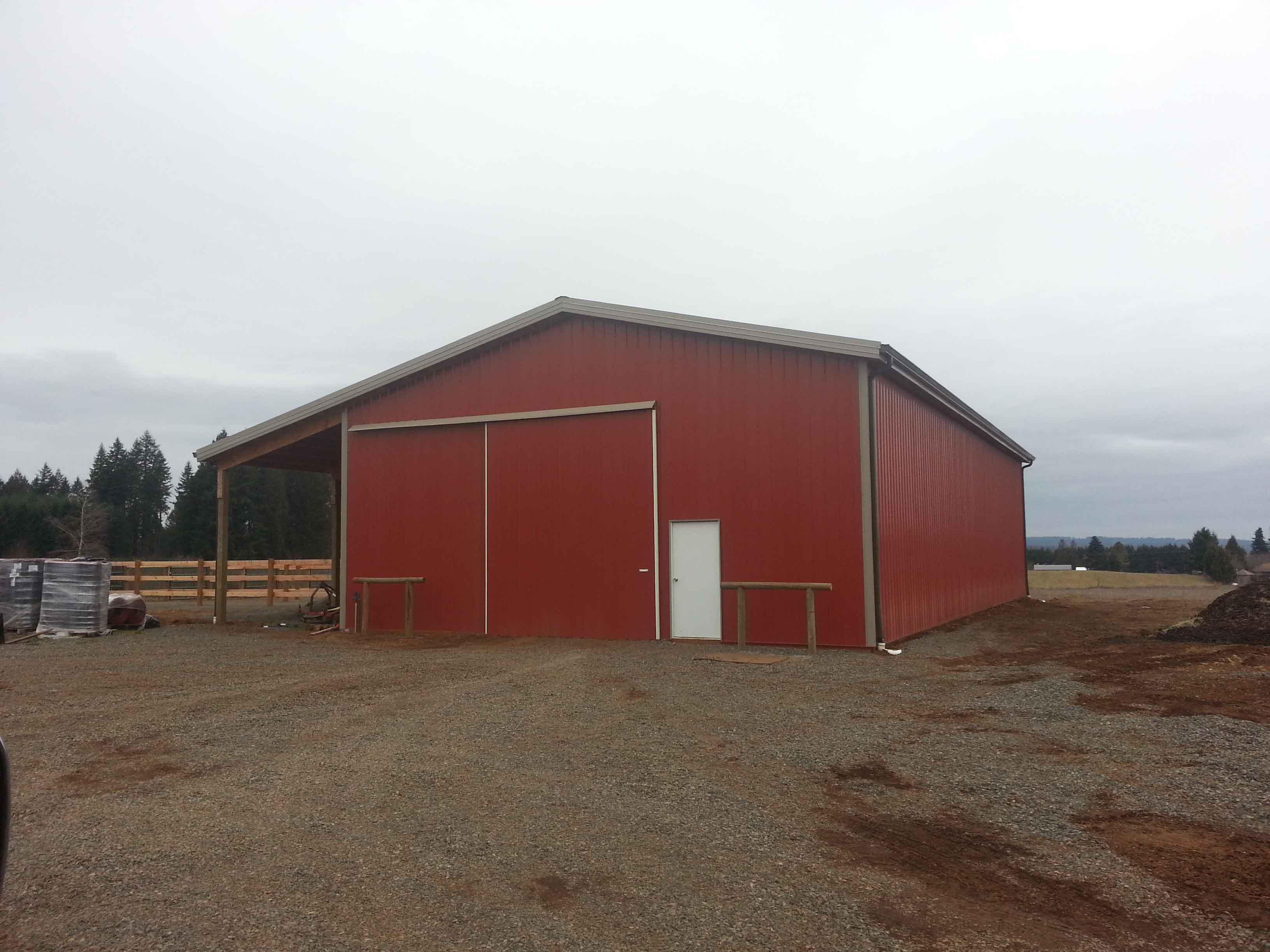 48'x72'x16' pole barn