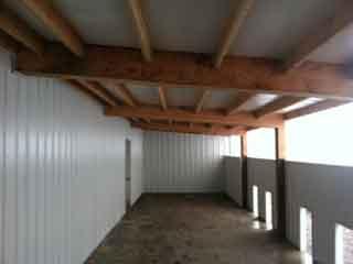 Interior metal lining