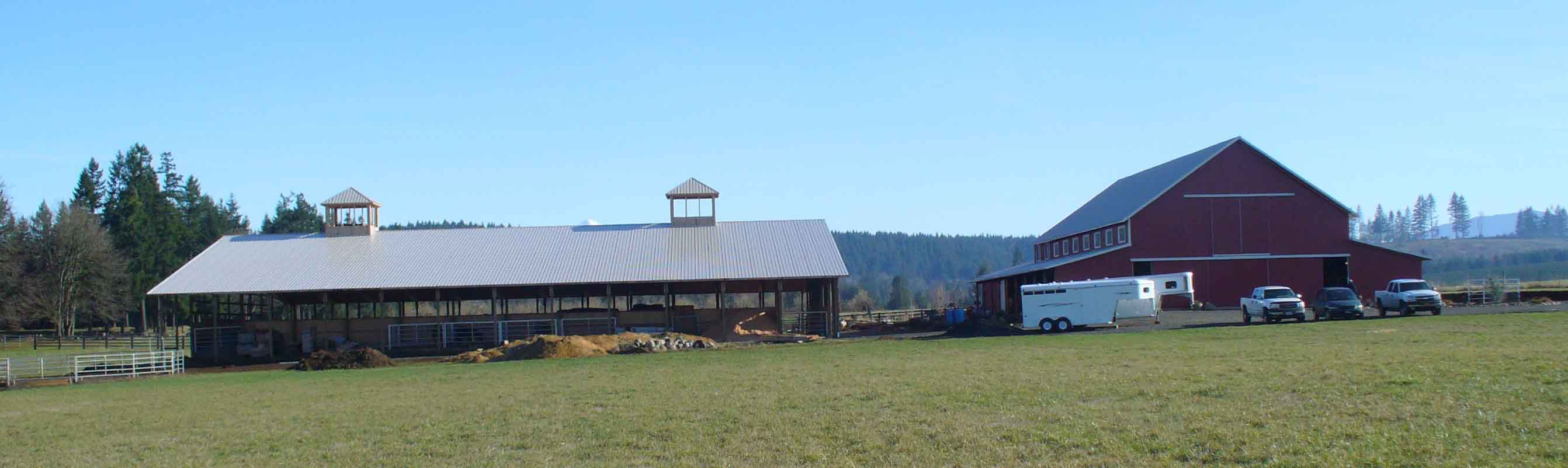 Large horse ranch