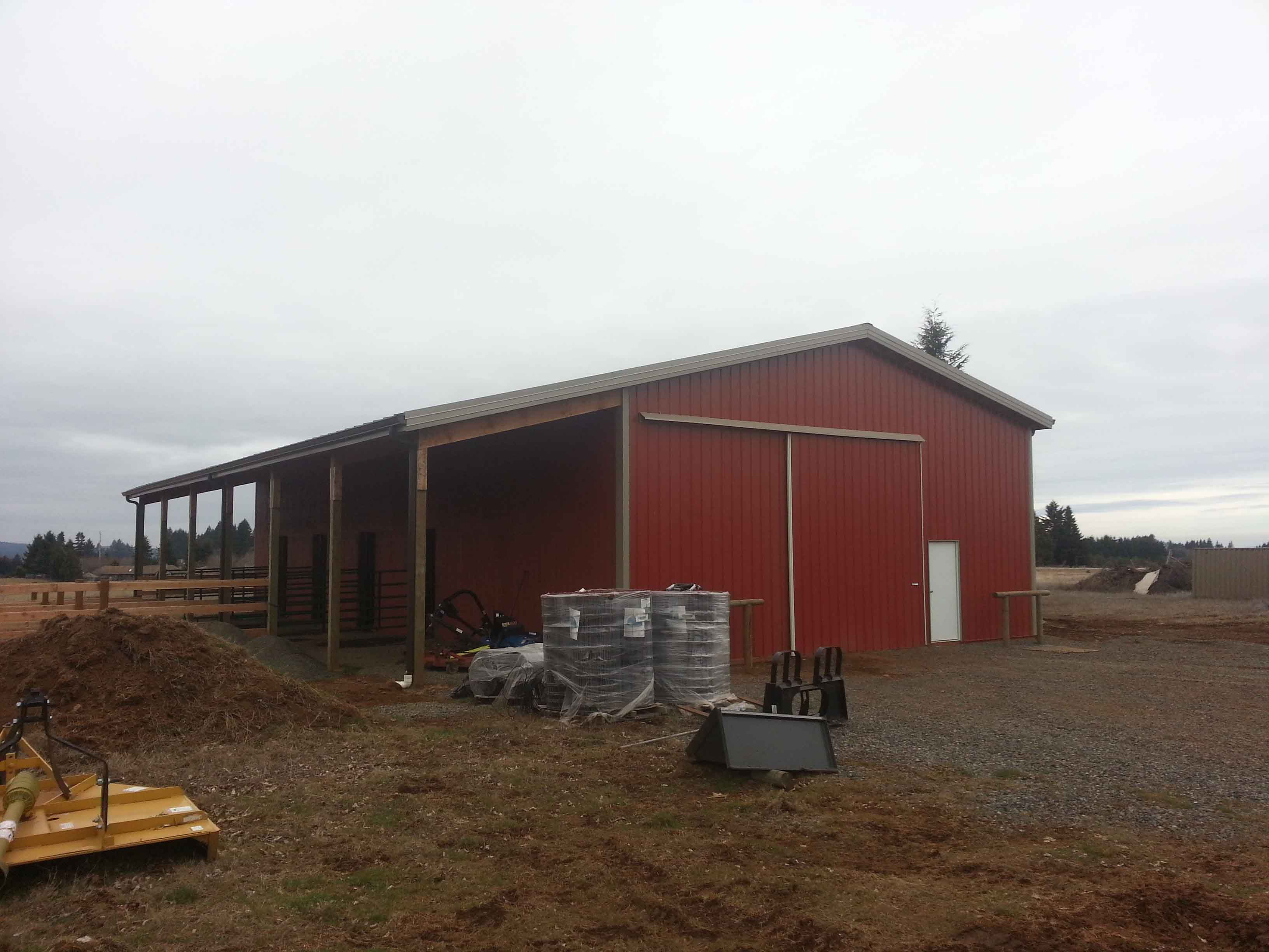 Pole Barn with 12'x72' Lean-To