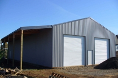 12'x72' lean-to on shop