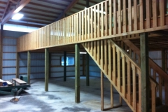 48'x28' loft with stairs