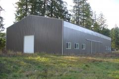60'x108'x22' tennis court pole building