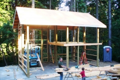 Framing two story shop