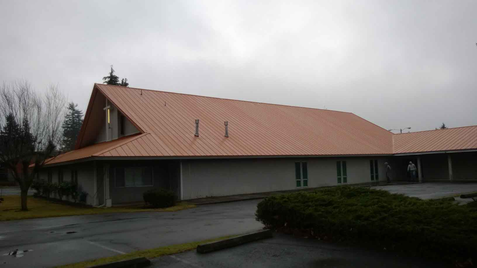 22,000sq. ft. roof on church