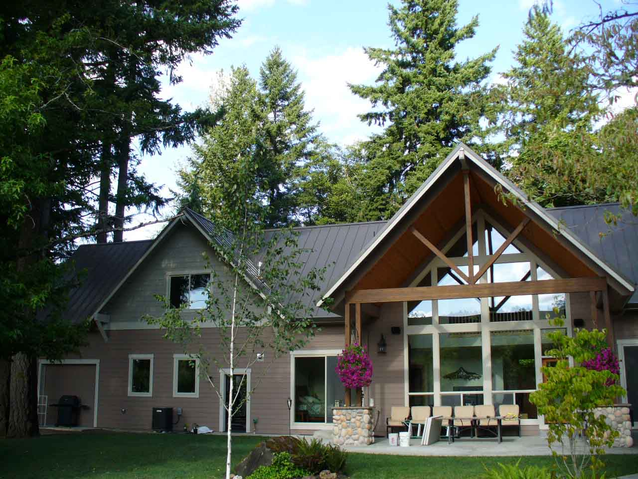 River front home with Loc-Seam metal roof