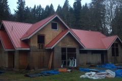Comercial metal roof at Eagle Fern Camp