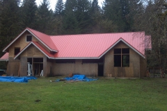 Comercial metal roof on chapel at retreat center