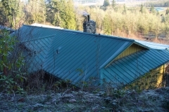 Loc-Seam metal roof on cliff side roof