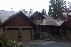 Loc-Seam metal roofing on custm new homw