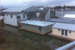 New boat house roofs
