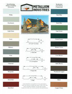 Metallion Color Chart Page 1