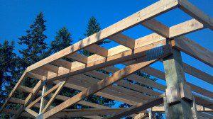 Pole Building Framed Overhang