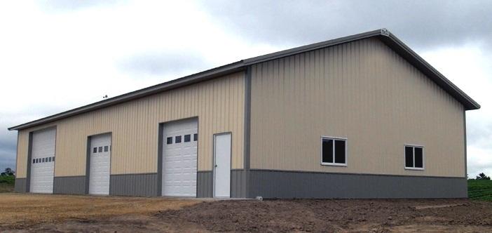 Overhang options for pole buildings portland oregon for Residential pole barn kits