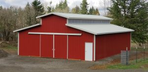 Full-sized Pole Buildings, designed to your specs and built on your property.